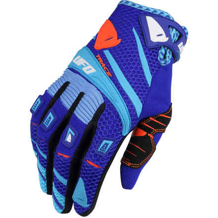 Cross Trace Gloves Blue Red Ufo