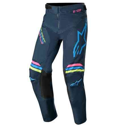 Cross Youth Racer Braap pants navy aqua pink fluo Alpinestars