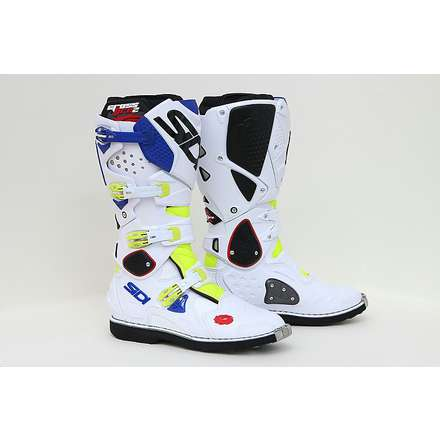Crossfire 2 Fluorescent Yellow-White-Blue Boots Sidi