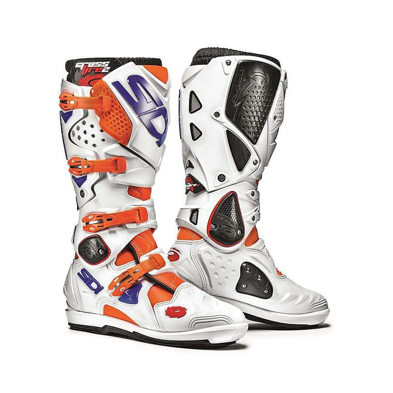 Crossfire 2 Srs Orange Fluo-White-Blue Boots Sidi