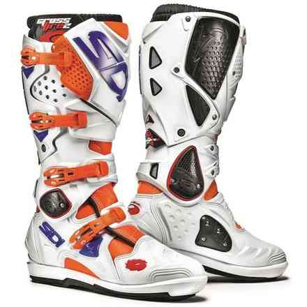 Crossfire 2 Srs orange fluo white blue Boots Sidi