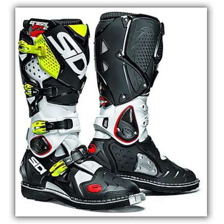 Crossfire 2 White-Black-Yellow Fluo Boots Sidi