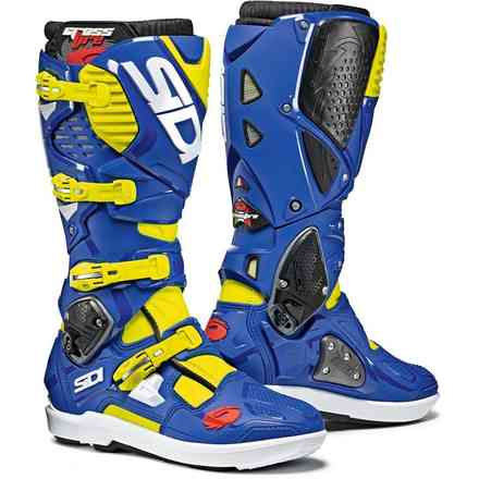 Crossfire 3 Boots Blue / White / Fluo Yellow Sidi