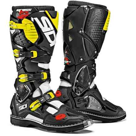 Crossfire 3 boots white black yellow fluo Sidi