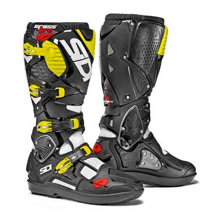 Crossfire 3 Srs boots white black yellow fluo Sidi