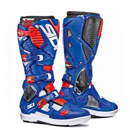 Crossfire 3 Srs white blue red Boots Sidi