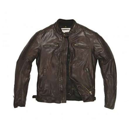 Cruiser leather Jacket Brown Helstons