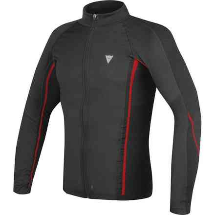 D-core No-wind Thermo Tee Ls Schwarz Rot Dainese
