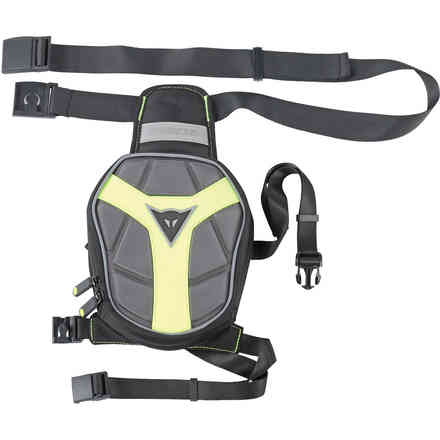 D-Exchange leg bag small black-yellow Dainese
