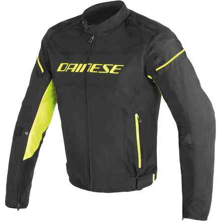 D-Frame Tex jacket black yellow fluo Dainese