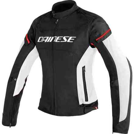D-Frame Tex jacket Lady black white red Dainese