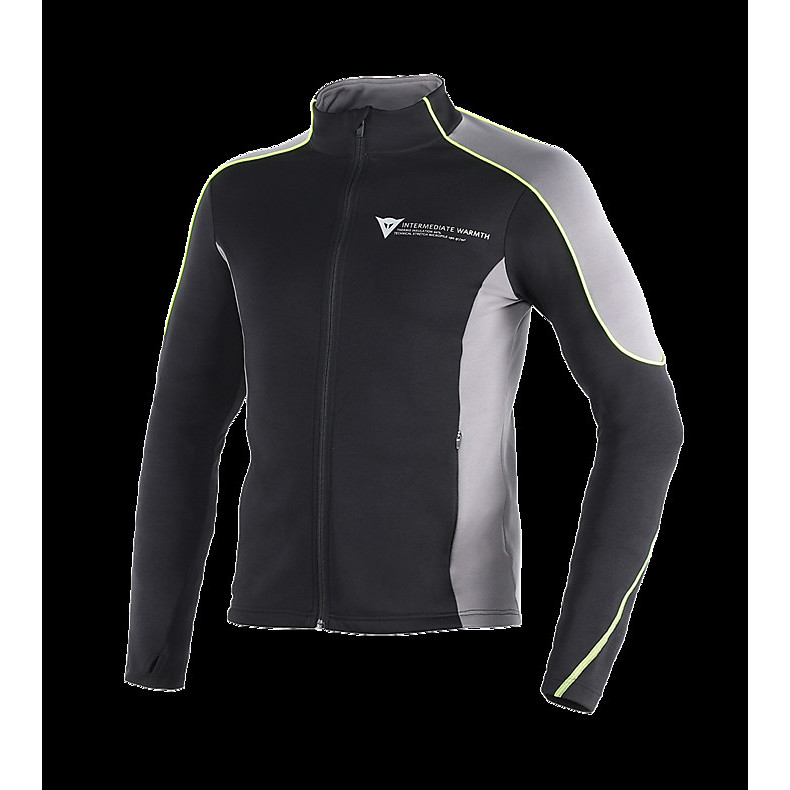 D-Mantle Fleece shirt black-anthracite-yellow fluo Dainese