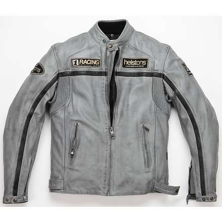 Daytona leather Jacket Grey Helstons