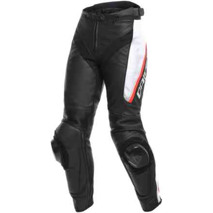 Delta 3 Lady pant black white red Dainese