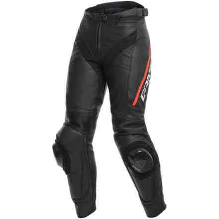 Delta 3 Lady pants black red fluo Dainese