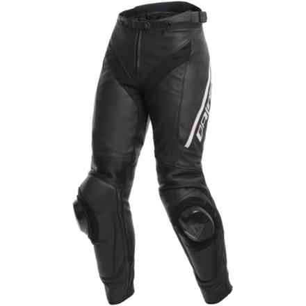 Delta 3 Lady pants black white Dainese
