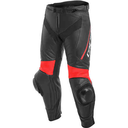 Delta 3 pant Perforated black red fluo Dainese