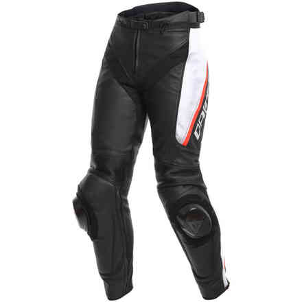 Delta 3 Perforated Lady pant black white red Dainese