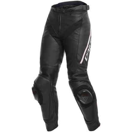 Delta 3 Perforated lady pant black white Dainese