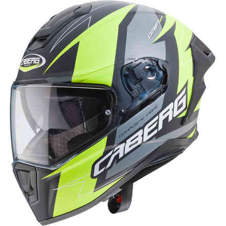Drift Evo Speedster helmet Matt black anthracyte yellow fluo Caberg