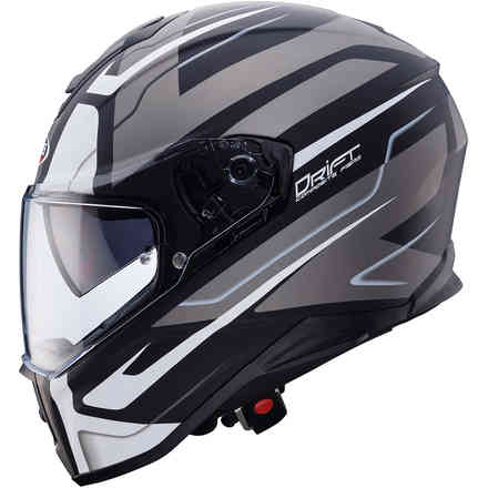 Drift Shadow helmet Matt black white anthracite Caberg