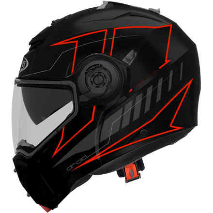 Droid Blaze helmet matt black red fluo Caberg