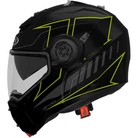 Droid Blaze helmet matt black yellow fluo Caberg