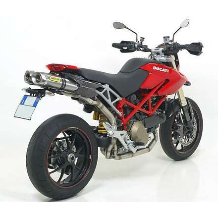 "Ducati Hypermotard 1100 '07 '09 Terminals Approved Street Thunder aluminum ""dark"" Stainless steel caseback Arrow"