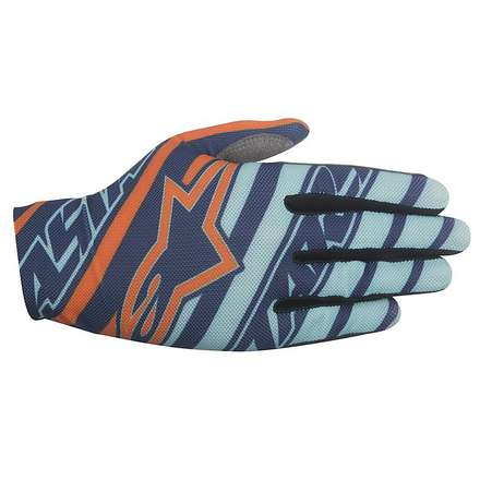 Dune 2016 cross gloves 2016 navy turquoise orange Alpinestars