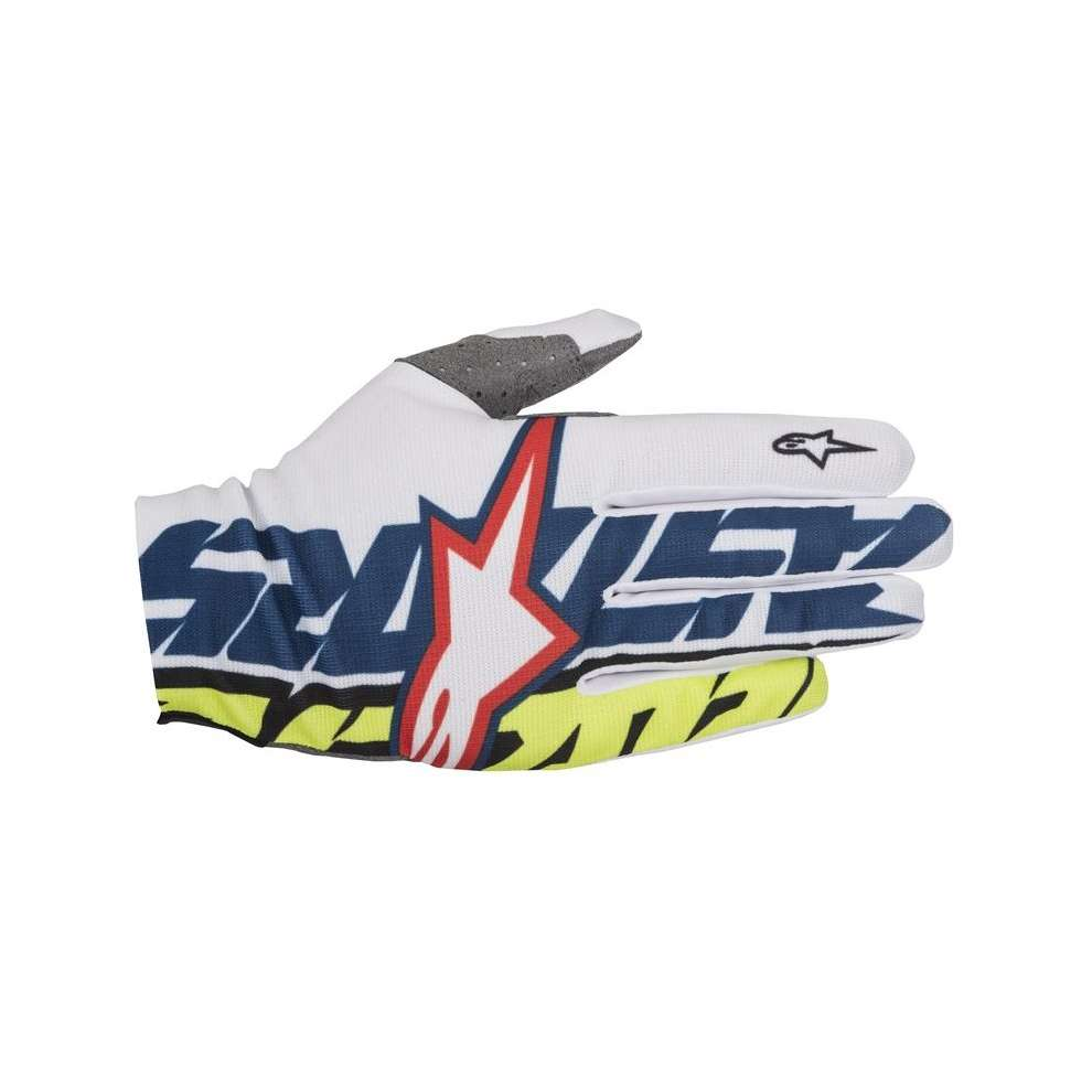Dune  2017 Gloves  white blue yellow Alpinestars