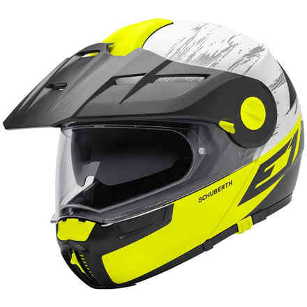 E1 Crossfire Yellow Helmet Schuberth
