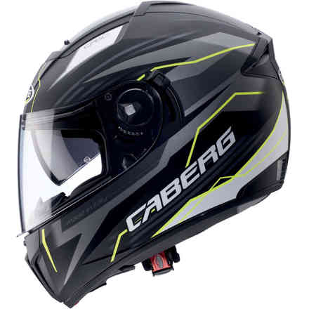 Ego Quartz helmet Matt black anthracite yellow fluo Caberg