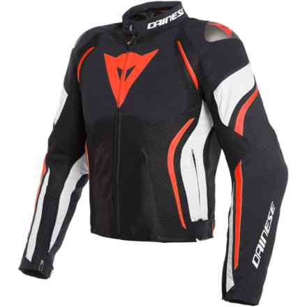 Estrema Air Tex jacket black white red Dainese