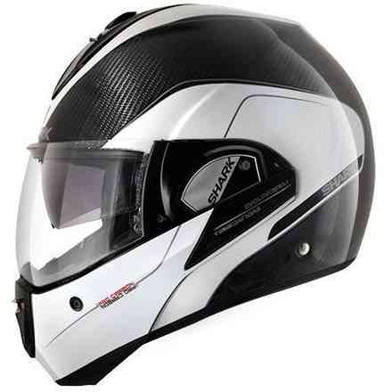 Evoline Pro Carbon white anthracite Helmet Shark