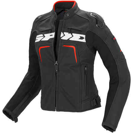 Evorider black-red lady Leather  Jacket Spidi
