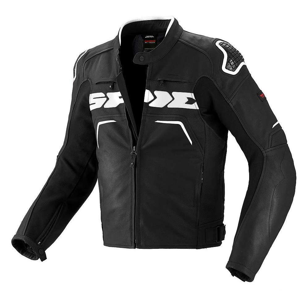 Evorider black-white Leather  Jacket Spidi