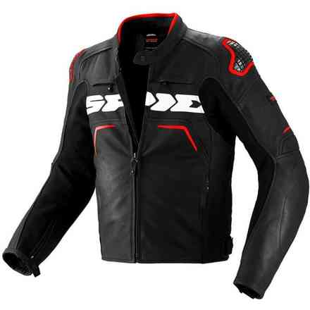 Evorider red Leather  Jacket Spidi