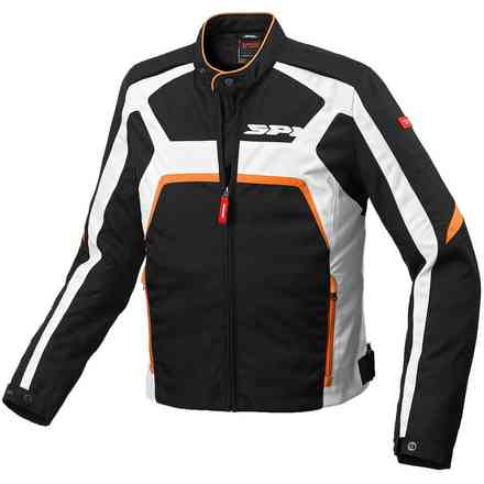 Evorider Tex black orange Jacket Spidi