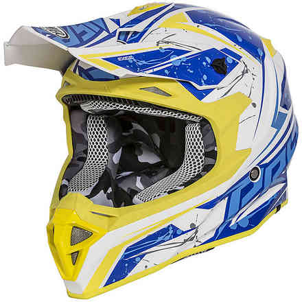 Exige Qx12 Helmet White Yellow Blue Premier