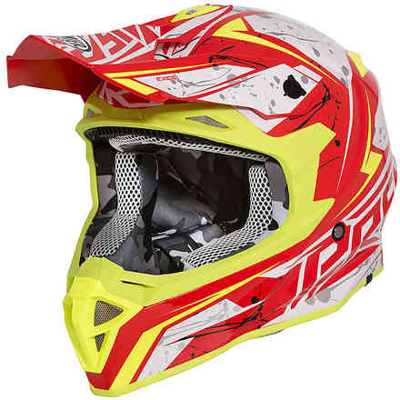 Exige Qx2 Helmet White Red Yellow Premier