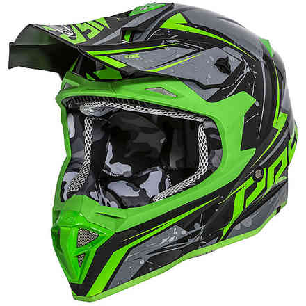 Exige Qx7 Helmet Green Black Grey Premier