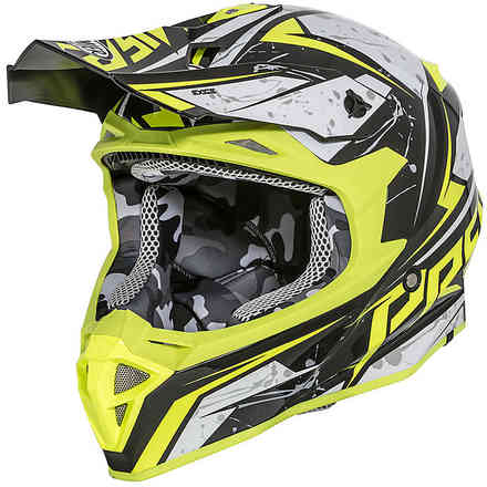 Exige Qxy Helmet Yellow Black Grey Premier