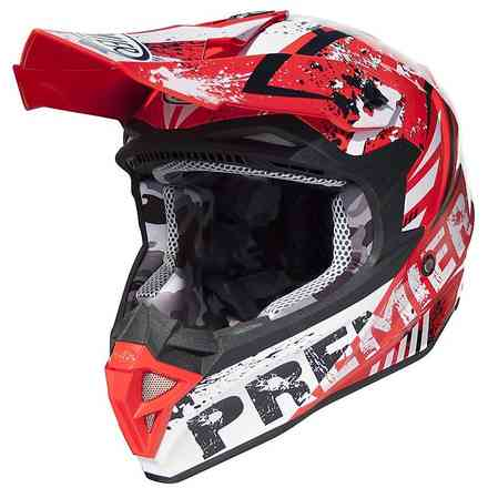 Exige Zx2 Helmet Red White Black Premier