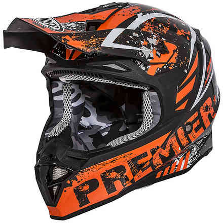 Exige Zx3 Helmet Orange Black Grey Premier