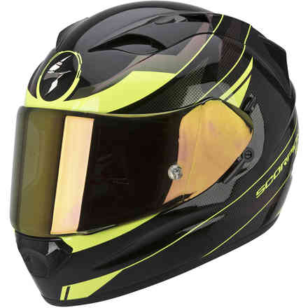 Exo-1200  Air Fulmen black camaleonte yellow neon Helmet Scorpion