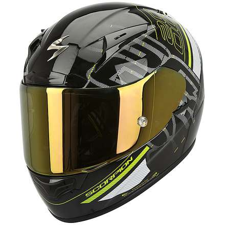 Exo-2000 Evo Air Ipsum Helmet Black-White-Green Scorpion