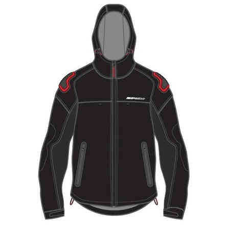 Fabric Jacket Shell Armor Black Red Spidi