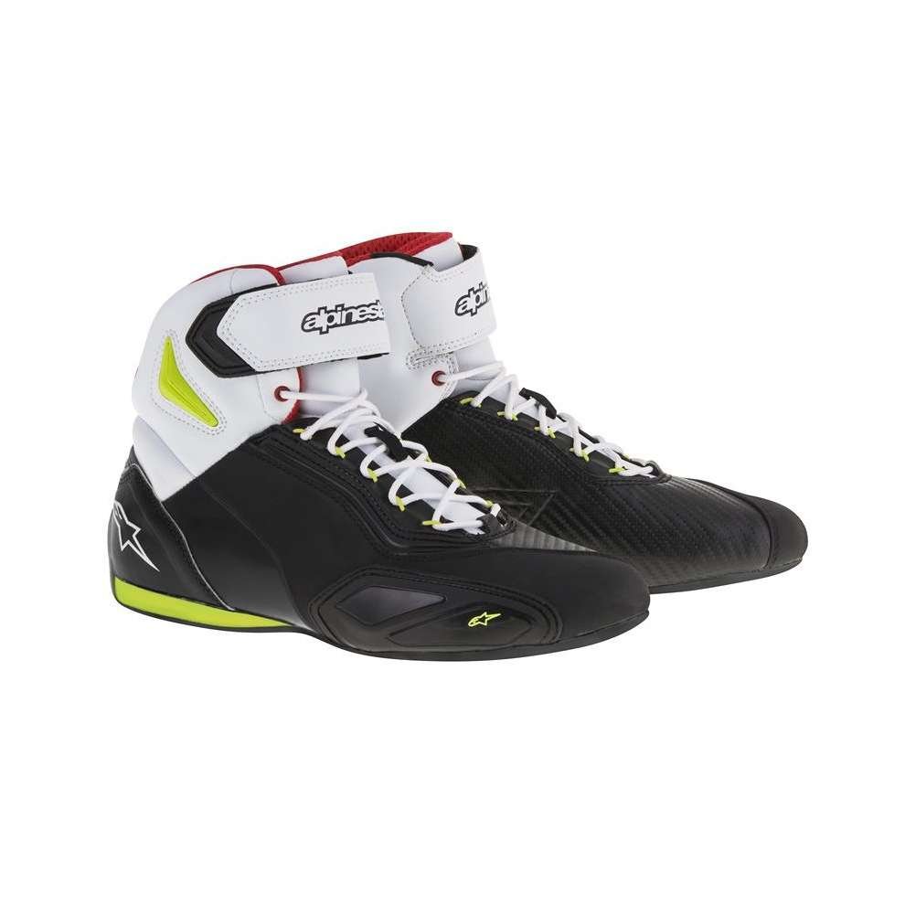 Faster 2 black-yellow fluo-red Shoe Alpinestars