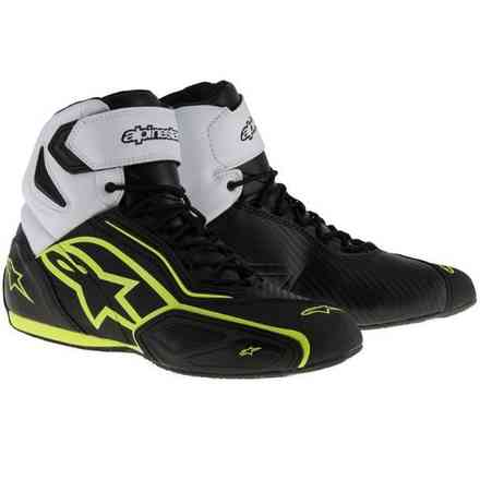 Faster 2 Shoe black white yellow Alpinestars