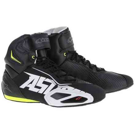 Faster-2 Shoes black white red yellow fluo Alpinestars